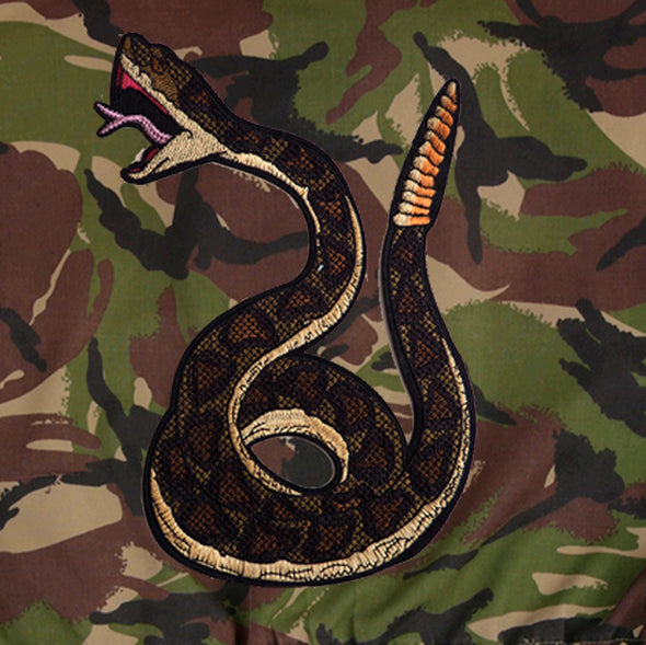 Green Snake on Dark Camo
