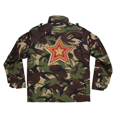 Stripey Sequin Star Camo Jacket