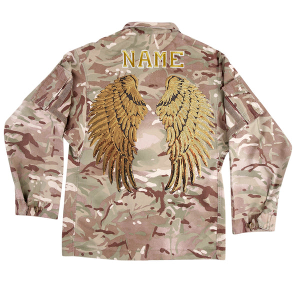 Gold Wings on Lightweight Camo