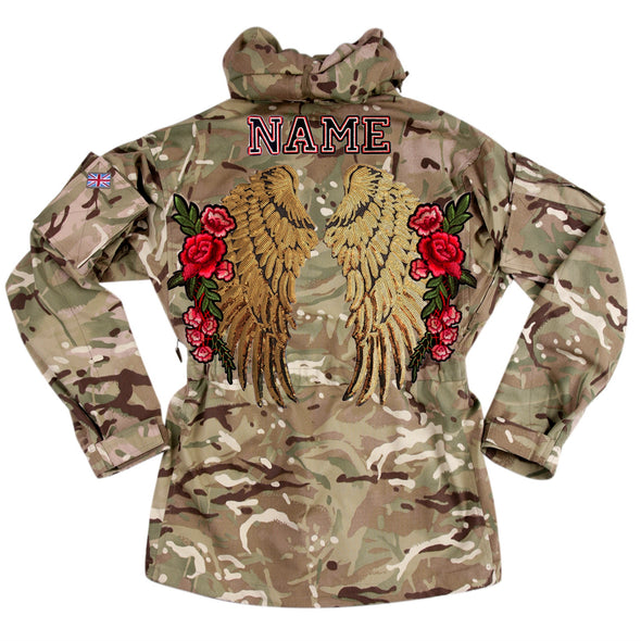 XL Gold Wings and Roses Pale Camo