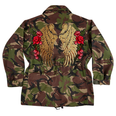 XL Gold Wings and Roses Dark Camo