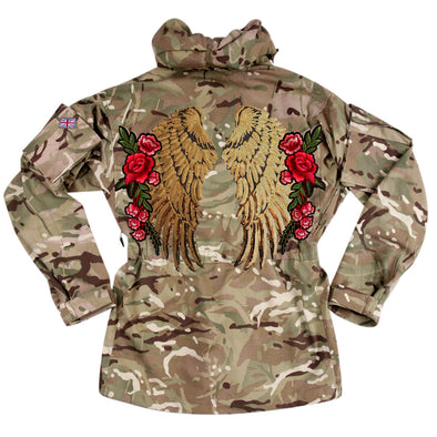 XL Gold Wings and Roses on Pale Camo