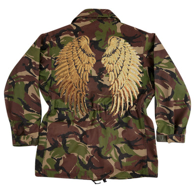 Gold Wings on Dark Camo