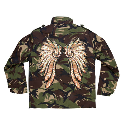 Pearl Gold Wings Camo Jacket