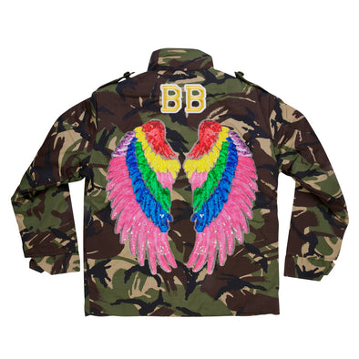 Rainbow Wings Camo Jacket