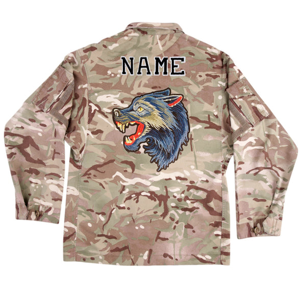 Blue Wolf on Lightweight Camo