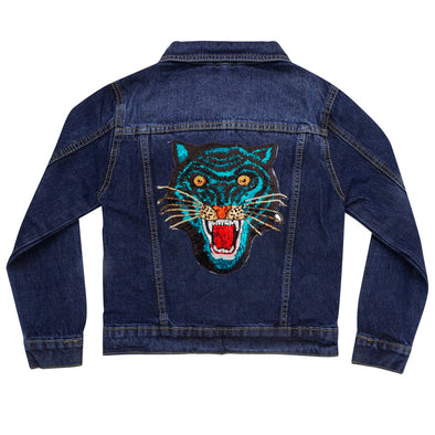 Blue Tiger Vintage Denim Jacket