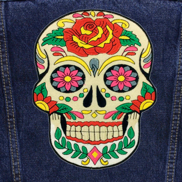 Day of the Dead Skull Denim Jacket