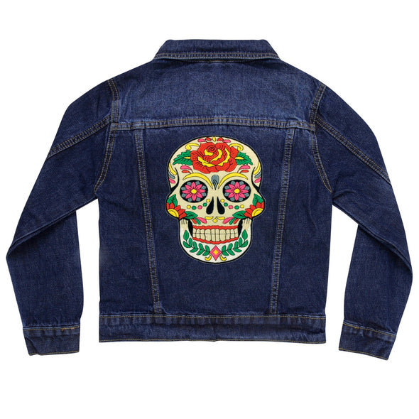 Day of the Dead Skull vintage Denim Jacket