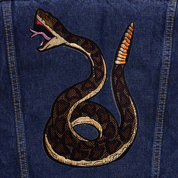 Green Snake Denim Jacket