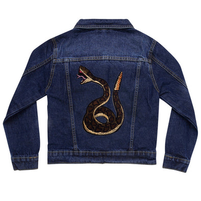 Green Snake Vintage Denim Jacket