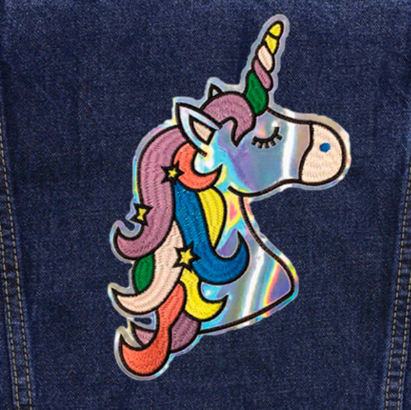 Hologram Unicorn Vintage Denim Jacket