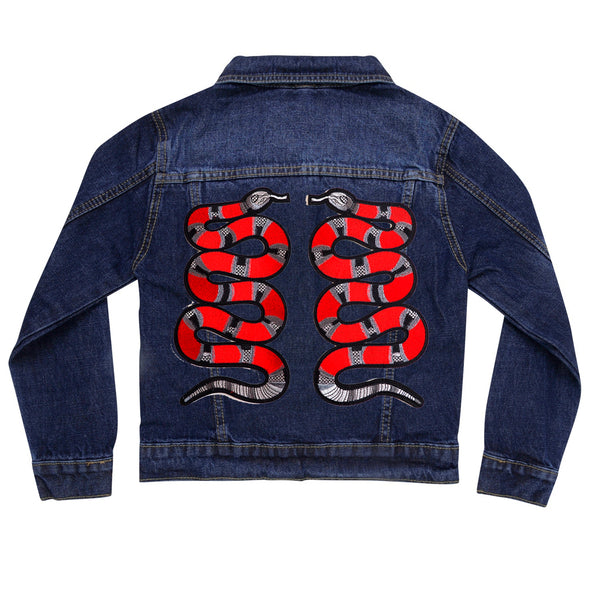 Red Snakes Denim Jacket