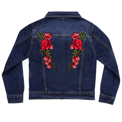 Roses Vintage Denim Jacket