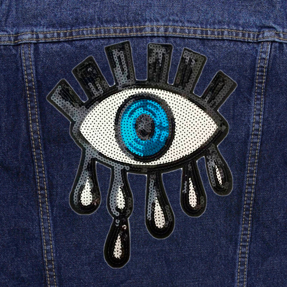 Sequin Eye Denim Jacket