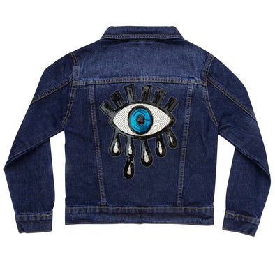 Sequin Eye Vintage Denim Jacket