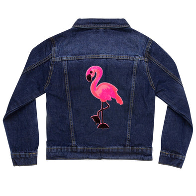 Pink Flamingo Vintage Denim Jacket