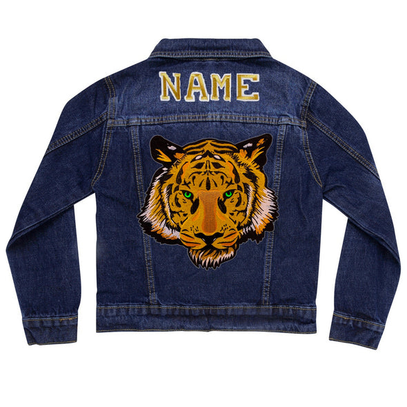 Green Eyed Tiger Vintage Denim Jacket