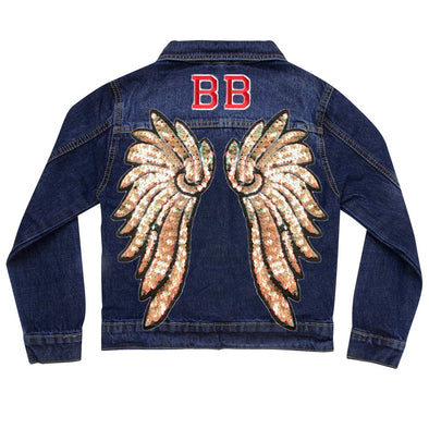 Pearl Gold Wings Denim Jacket