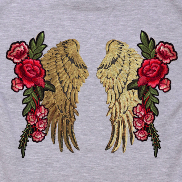 Gold Wings and Roses