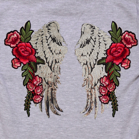 Silver Wings and Roses