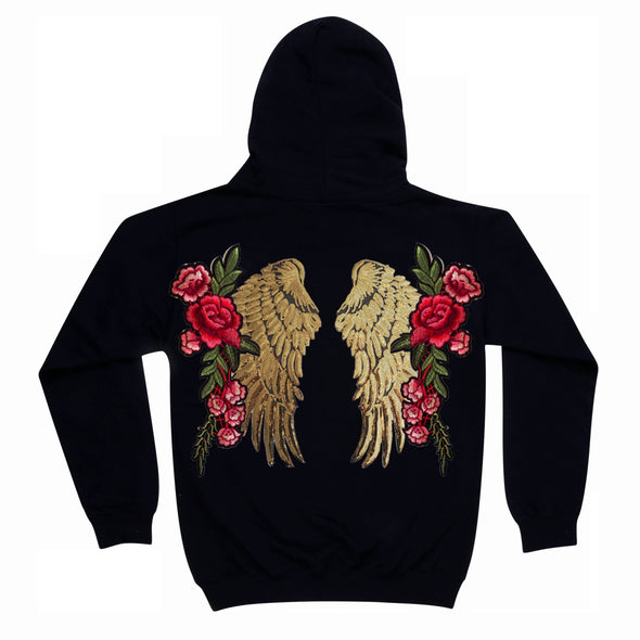 Gold Wings and Roses Hoodie