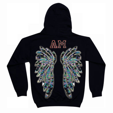 Indigo and Aqua Wings Hoodie