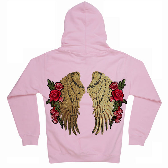 Large Gold Wings and Roses Hoodie
