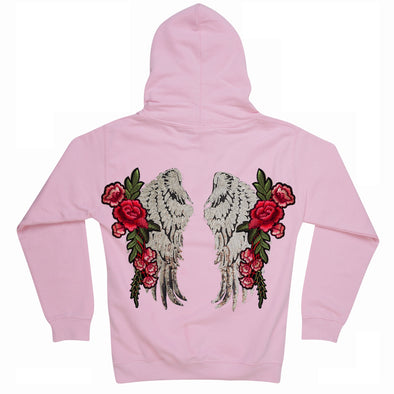 Silver Wings and Roses Hoodie