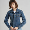 Reversible Sequin Rainbow Vintage Denim Jacket