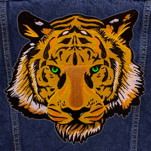 Green Eyed Tiger Denim Jacket