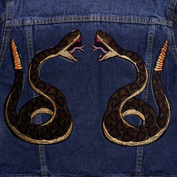 Green Snake Pair Denim Jacket