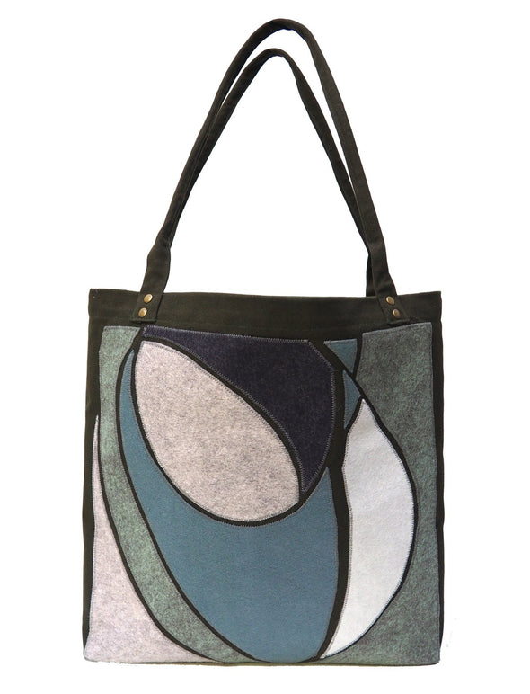 Oval Forms Khaki Bag