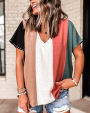 Spelesy Color Block Top