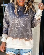 Spelesy Colorblock Bleached Sweatshirt (2 Colors)