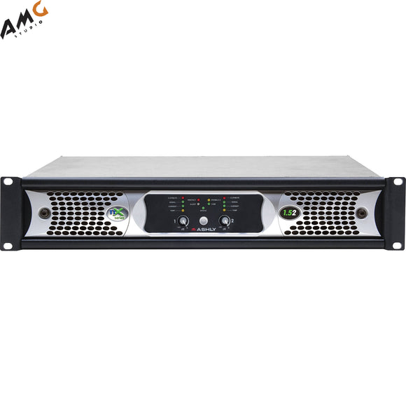 Ashly nX1.52 Power Amplifier 2 x 1500 Watts/2 Ohms with Programmable Outputs - Studio AMG