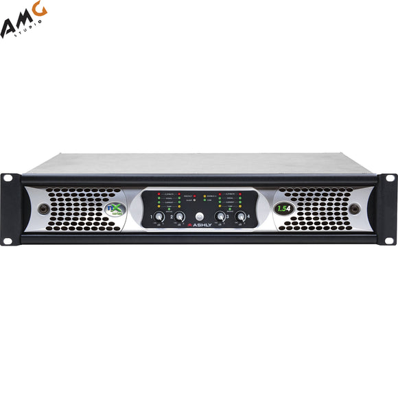Ashly nX1.54 Power Amplifier 4 x 1500 Watts/2 Ohms with Programmable Outputs - Studio AMG