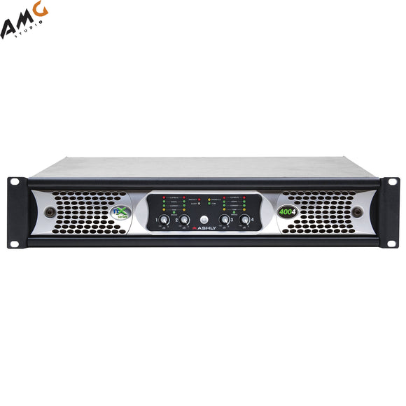 Ashly nX Series NX4004 4-Channel 400W Power Amplifier with Programmable Outputs - Studio AMG