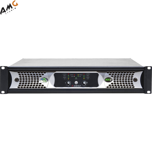 Ashly nX Series NX8002 2-Channel 800W Power Amplifier with Programmable Outputs - Studio AMG