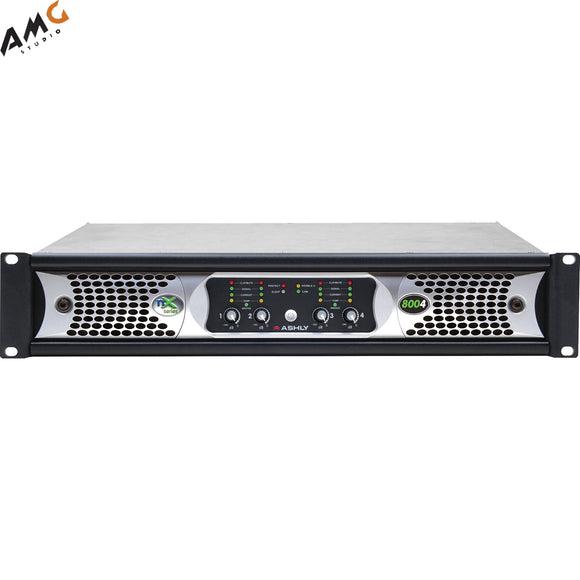 Ashly nX Series NX8004 4-Channel 800W Power Amplifier with Programmable Outputs - Studio AMG