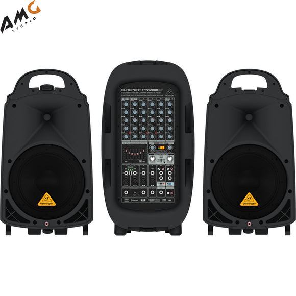 Behringer EUROPORT PPA2000BT 2000W 8-Channel Portable PA System with Bluetooth - Studio AMG