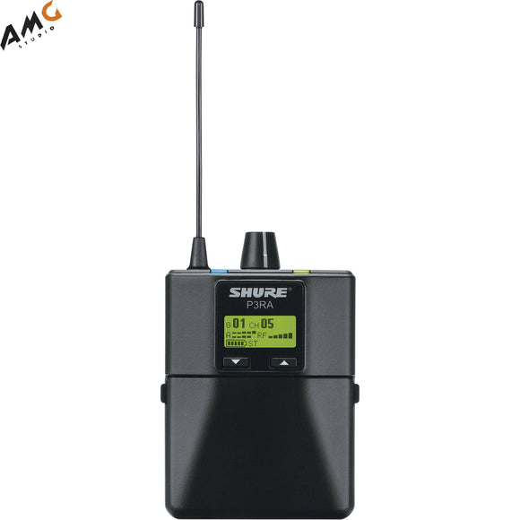 Shure P3RA Wireless Bodypack Receiver for PSM300 Multiple Frequencies Available - Studio AMG