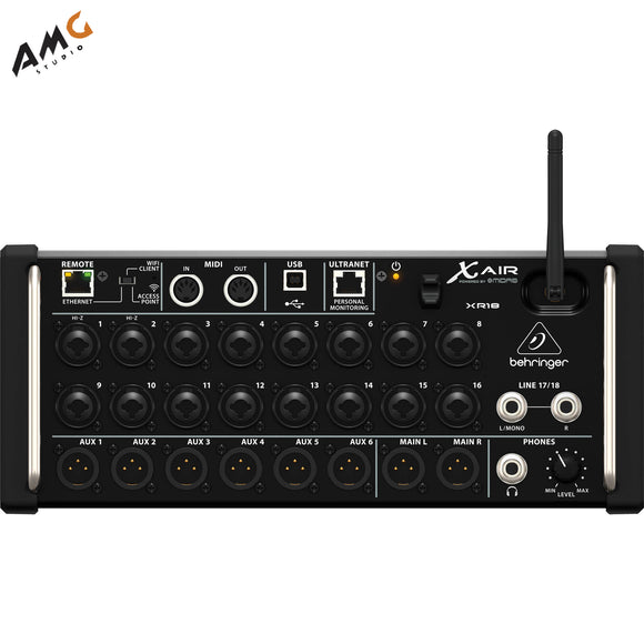 Behringer X Air XR18 18-Input Digital Mixer for iPad/Android Tablets with Wi-Fi - Studio AMG