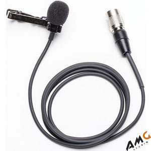 Azden EX-50H Broadcast Omni Directional Lapel Microphone with Locking 4-pin Hirose Plug - Studio AMG