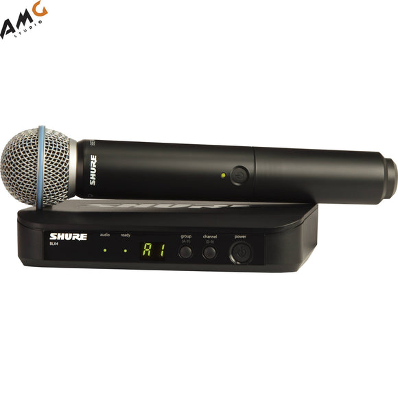 Shure BLX24/B58 Wireless Handheld Microphone System with Beta 58A Capsule (H9 H10 J10) - Studio AMG