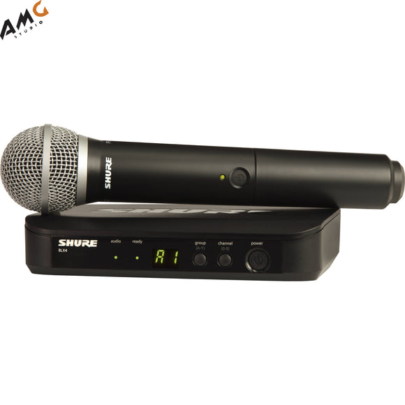 Shure BLX24/PG58 Wireless Handheld Microphone System with PG58 Capsule (H9 H10 J10) - Studio AMG
