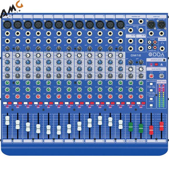 Midas DM16 16-Input Analog Live and Studio Mixer with Microphone Preamplifier - Studio AMG