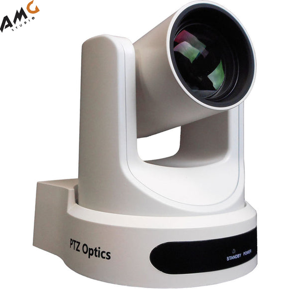 PTZOptics 12x-USB Gen2 Video Conferencing Streaming Camera White PT12X-USB-WH-G2 - Studio AMG