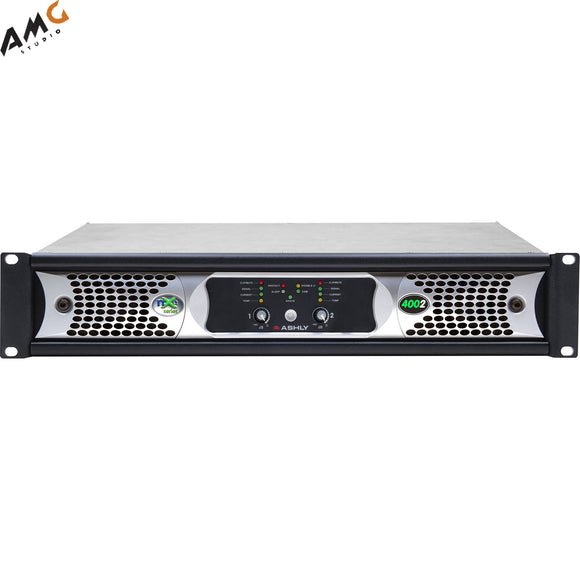 Ashly nXe4002bd 2x 400 Watts/2 Ohms Network Power Amplifier with OPDante Cards - Studio AMG