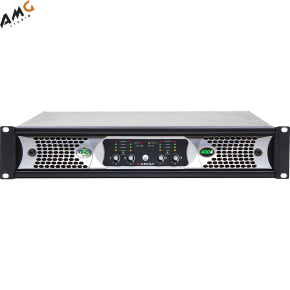 Ashly nXe4004bd 4x 400 Watts/2 Ohms Network Power Amplifier with OPDante Cards - Studio AMG